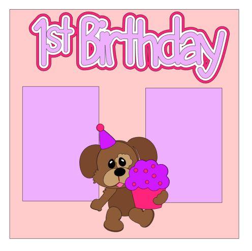 1st Birthday Add On Girl