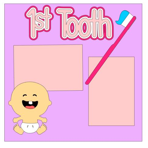 1st Tooth Add On Girl