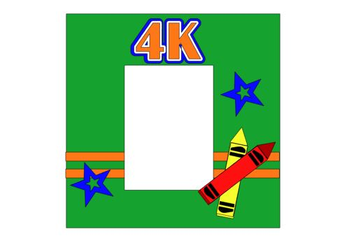 4K Add on Single 12 x 12 kit for School Days Album Set