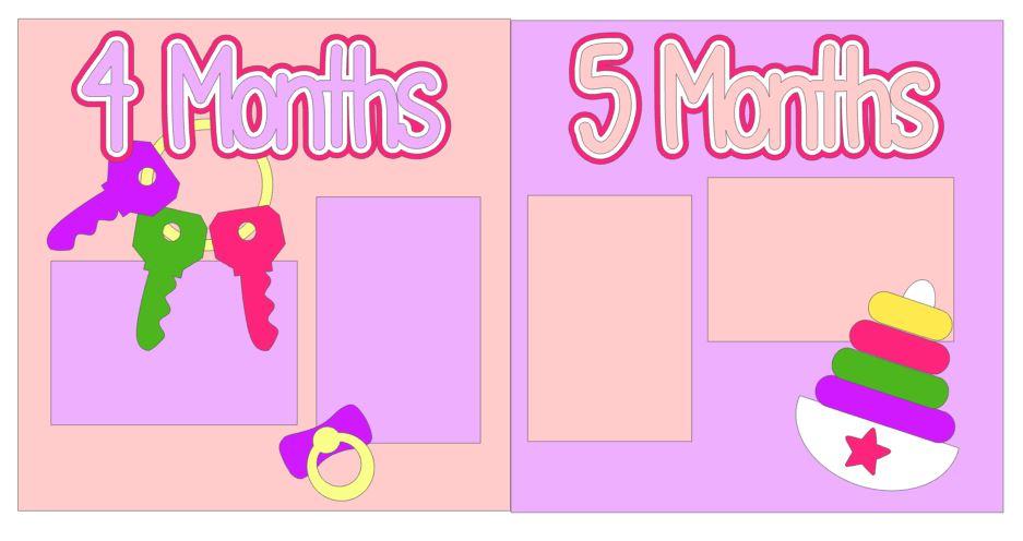 Babys First Year Album Kit - Girl