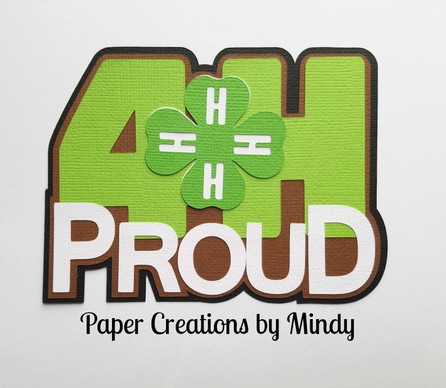 4H Proud Title Paper Piecing