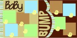 Baby Bump Blue