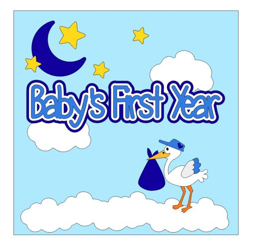 Baby's First Year Cover Add On Boy