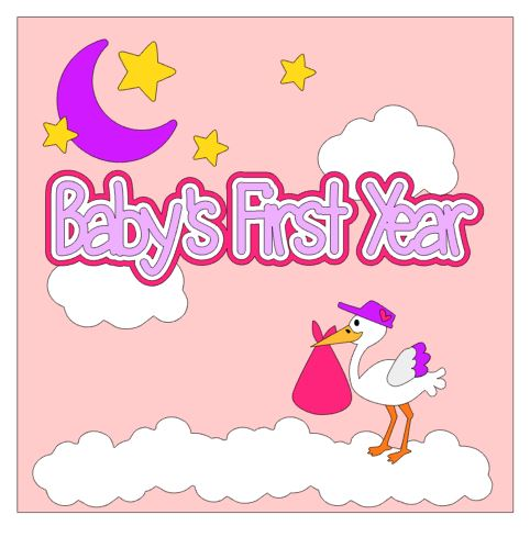 Babys First Year Cover Add On Girl
