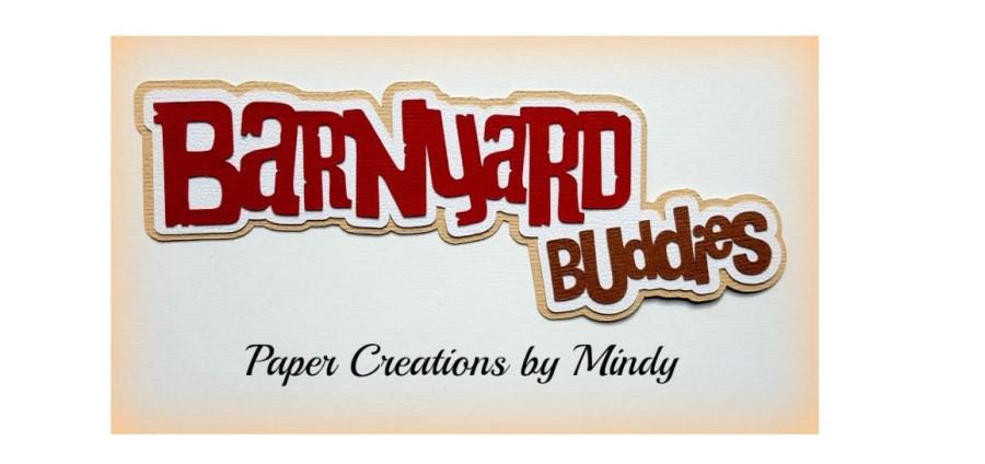 BarnYard Buddies Paper Piecing