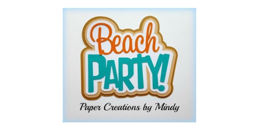 Beach Party Paper Piecing