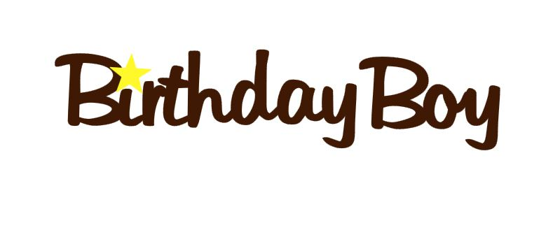 Birthday Boy Title Cutout