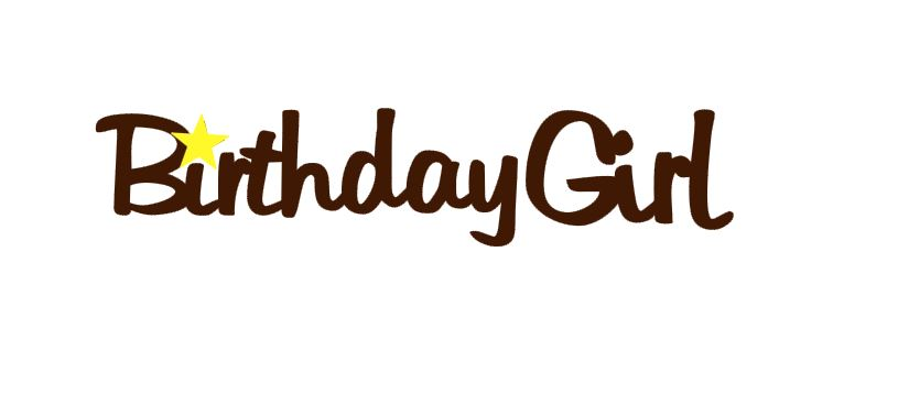 Birthday Girl Title Cutout