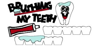 Brushing My Teeth Cut Outs