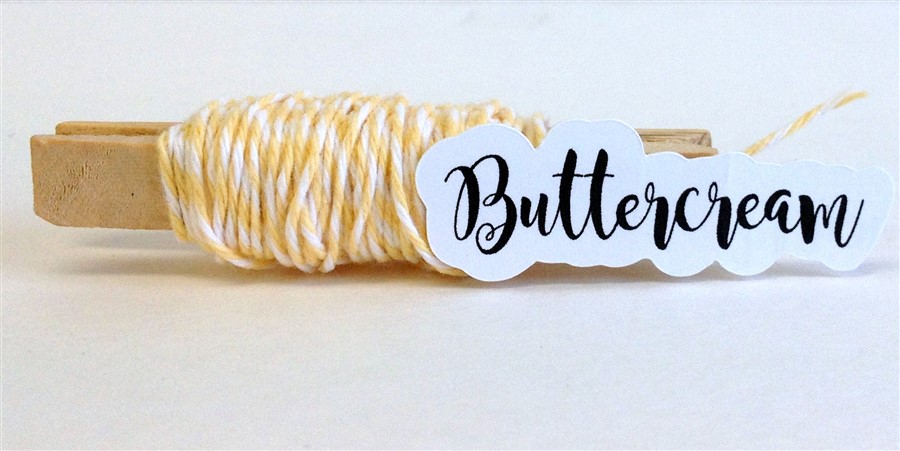 Buttercream Stripe Baker's Twine