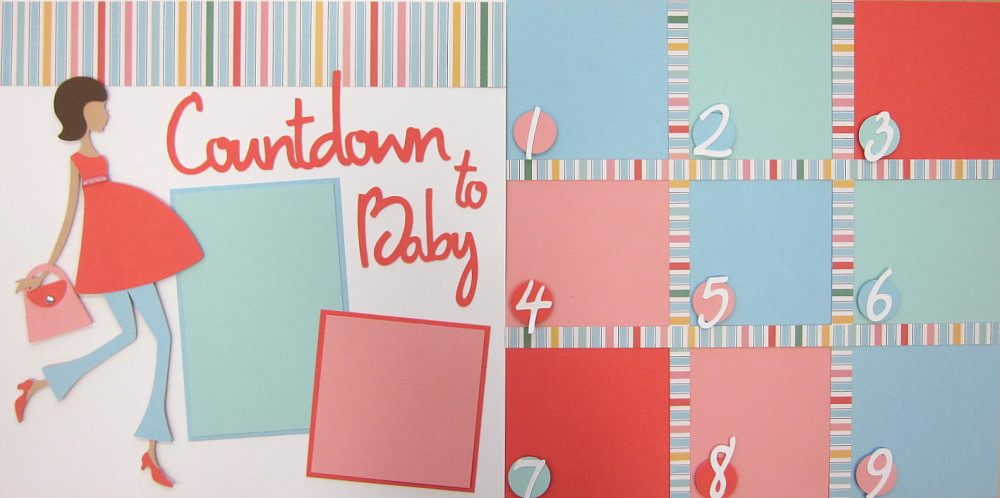 Countdown To Baby - Girl with purse - Clearance