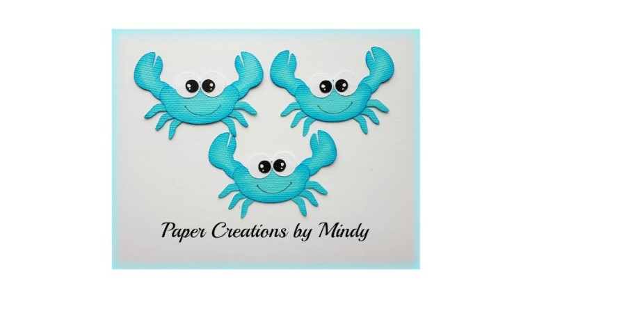 Crabs set Blue Paper Piecing