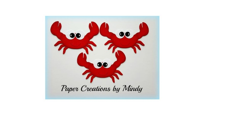 Crabs Set Red Paper Piecing