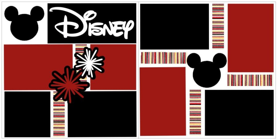 Disney Black Red White