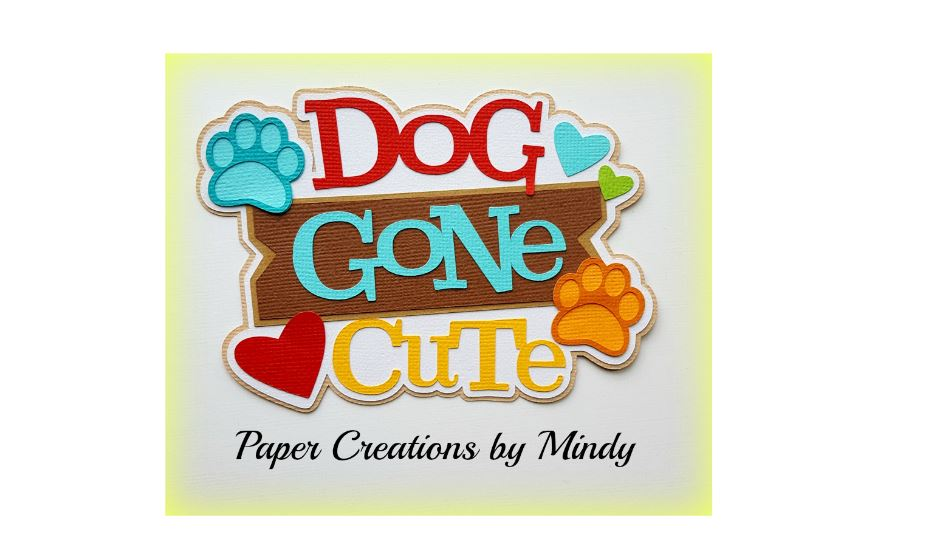Dog Gone Cute PawPrints Paper Piecing