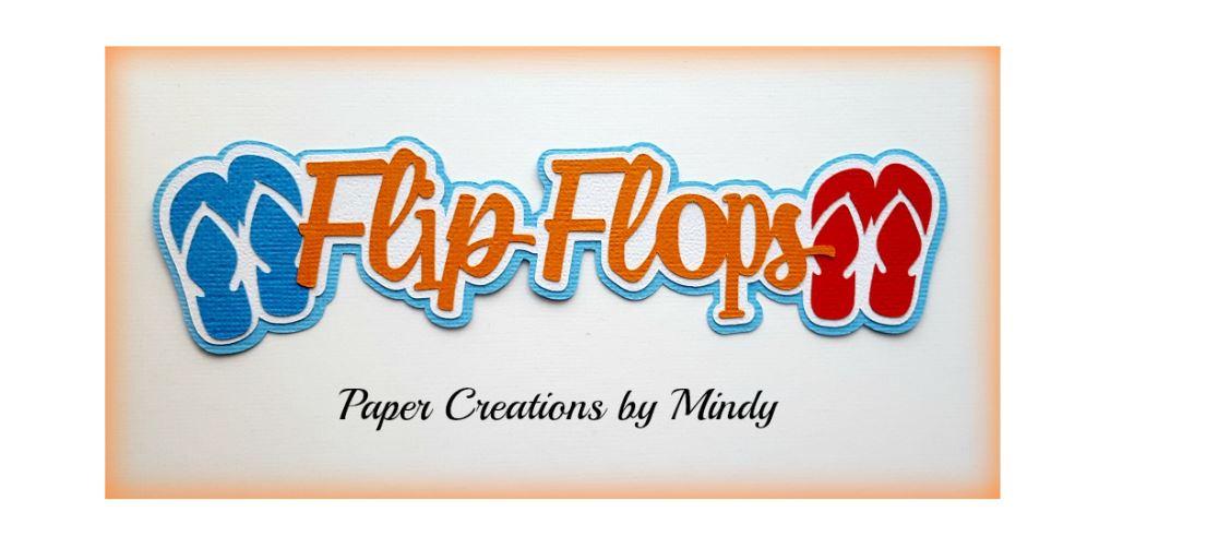 Flip Flops Title Paper Piecing