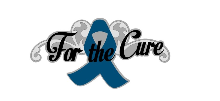 For The Cure Title Cutout Teal