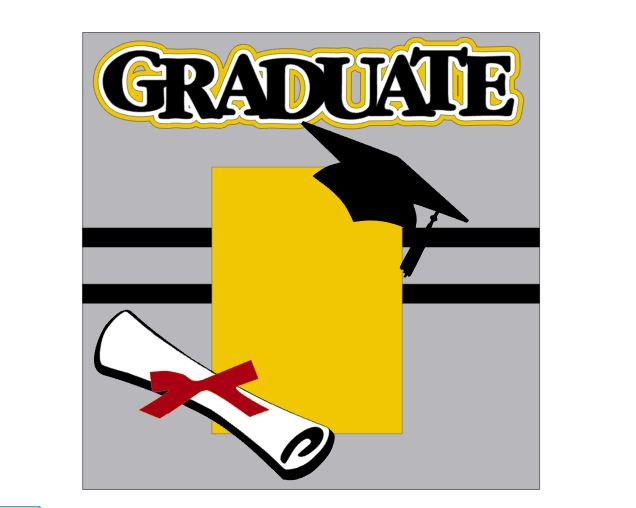 Graduate Add on Single 12 x 12 kit for School Days Album Set