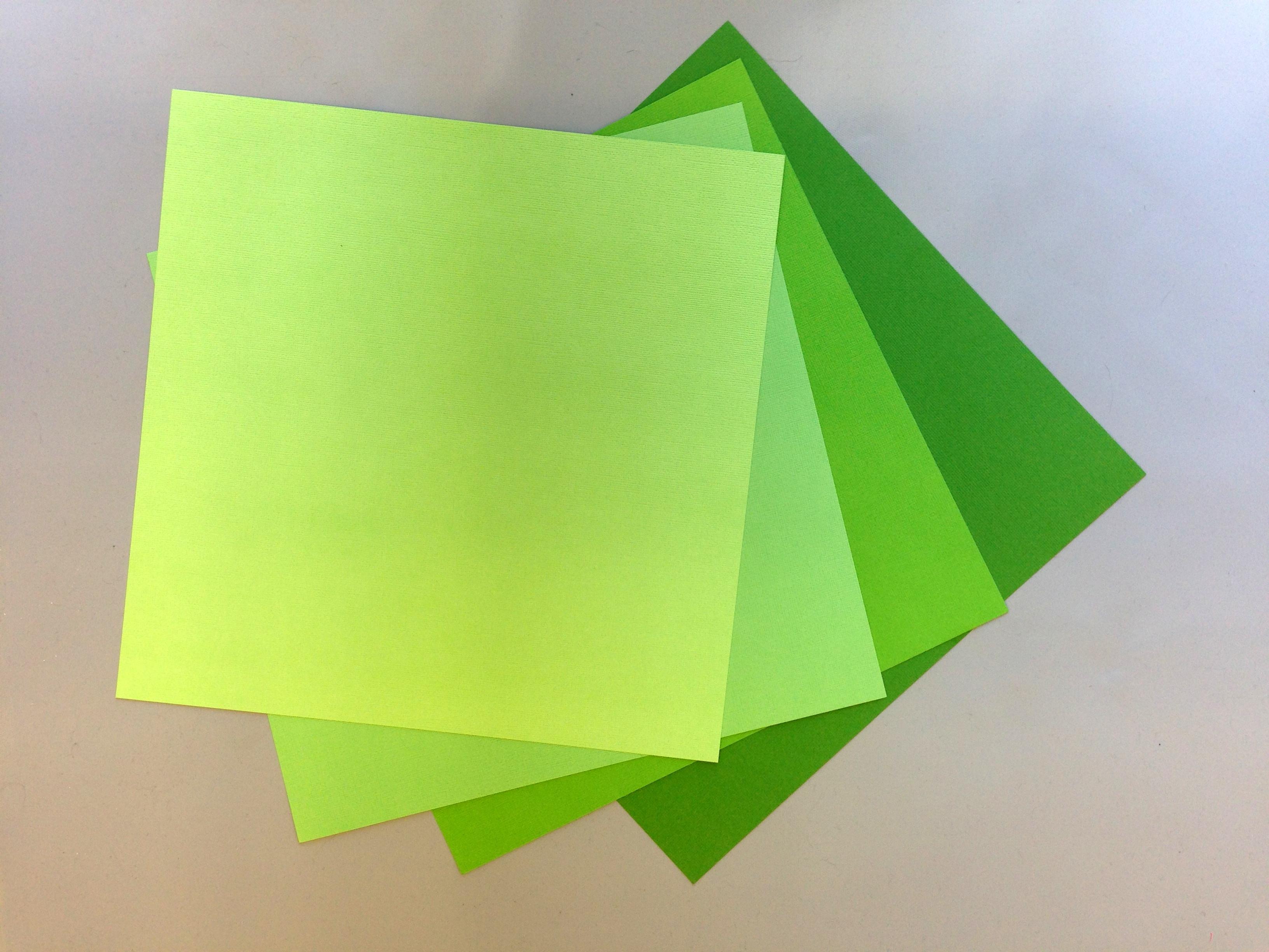 Green Paper Flower Kit