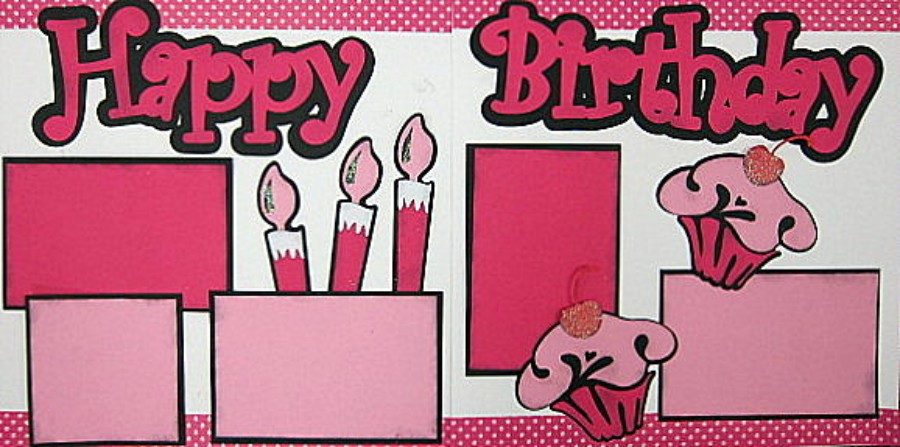 Happy Birthday Pink Cupcakes - Clearance