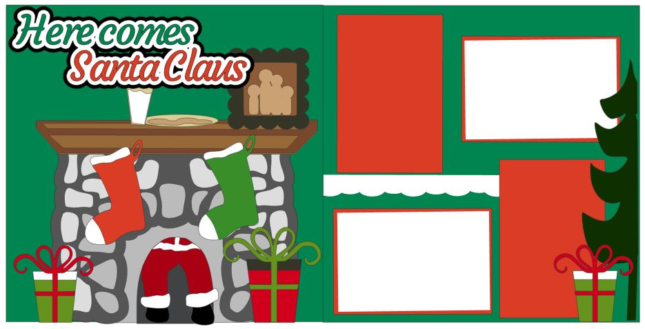 Here Comes Santa Claus - Fireplace