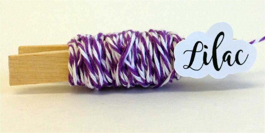 Lilac Stripe Baker's Twine