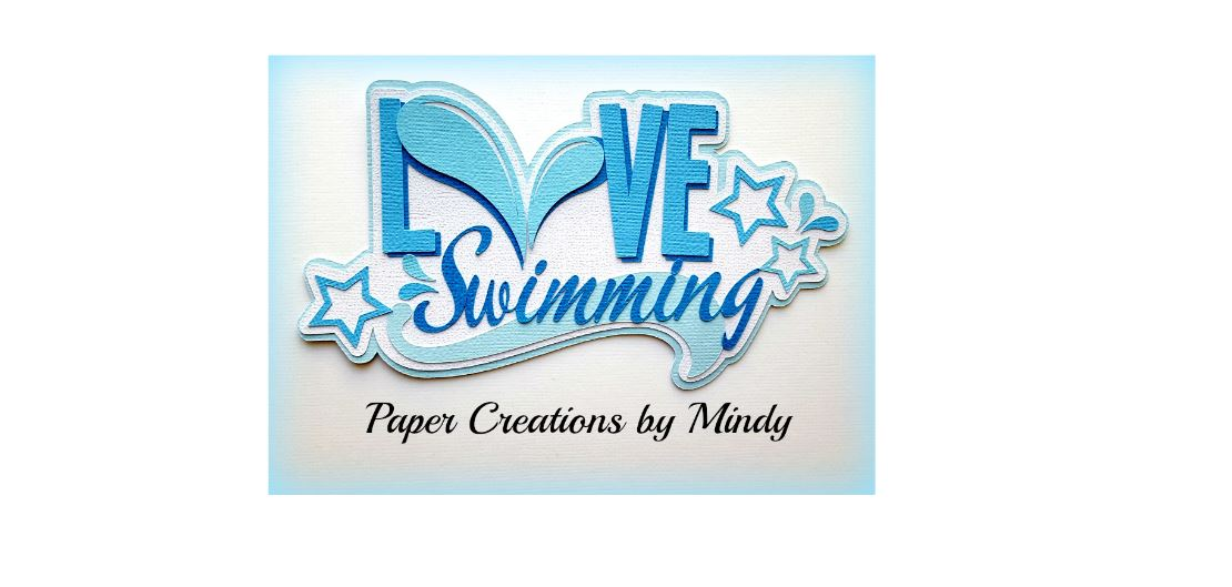 Love Swimming Paper Piecing