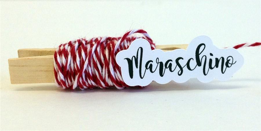 Maraschino Stripe Baker's Twine