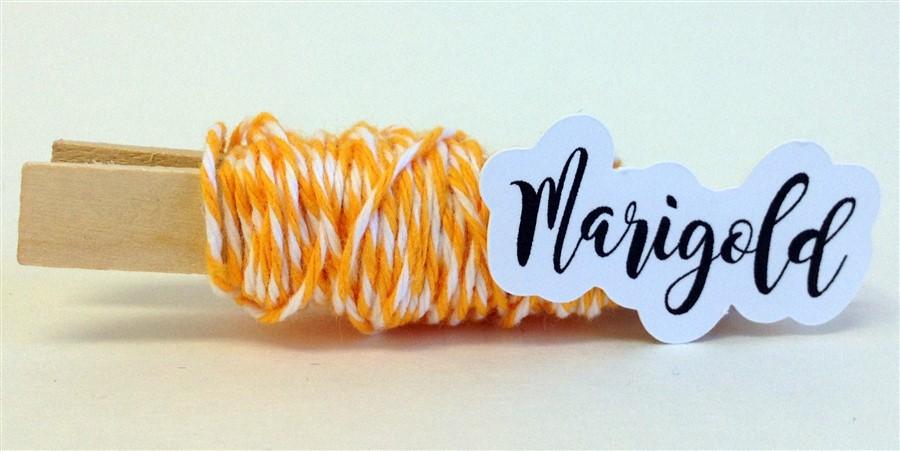 Marigold Stripe Baker's Twine
