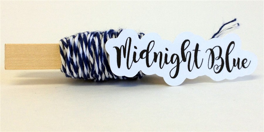Midnight Blue Stripe Baker's Twine