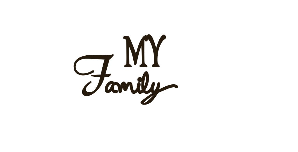 My Family Title Cutout