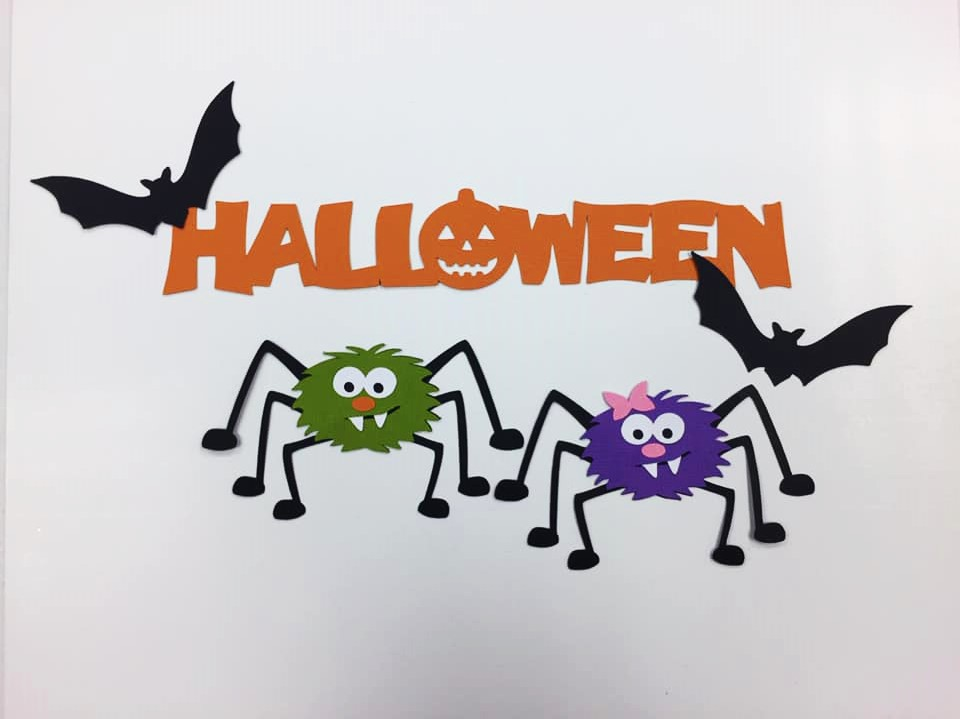 Halloween Spiders Cutouts