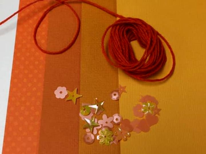 Orange Paper Flower Kit