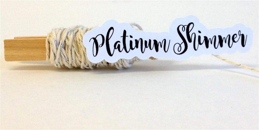 Platinum Shimmer Stripe Baker's Twine