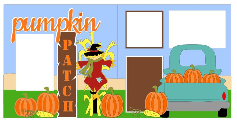 Pumpkin Patch with Truck