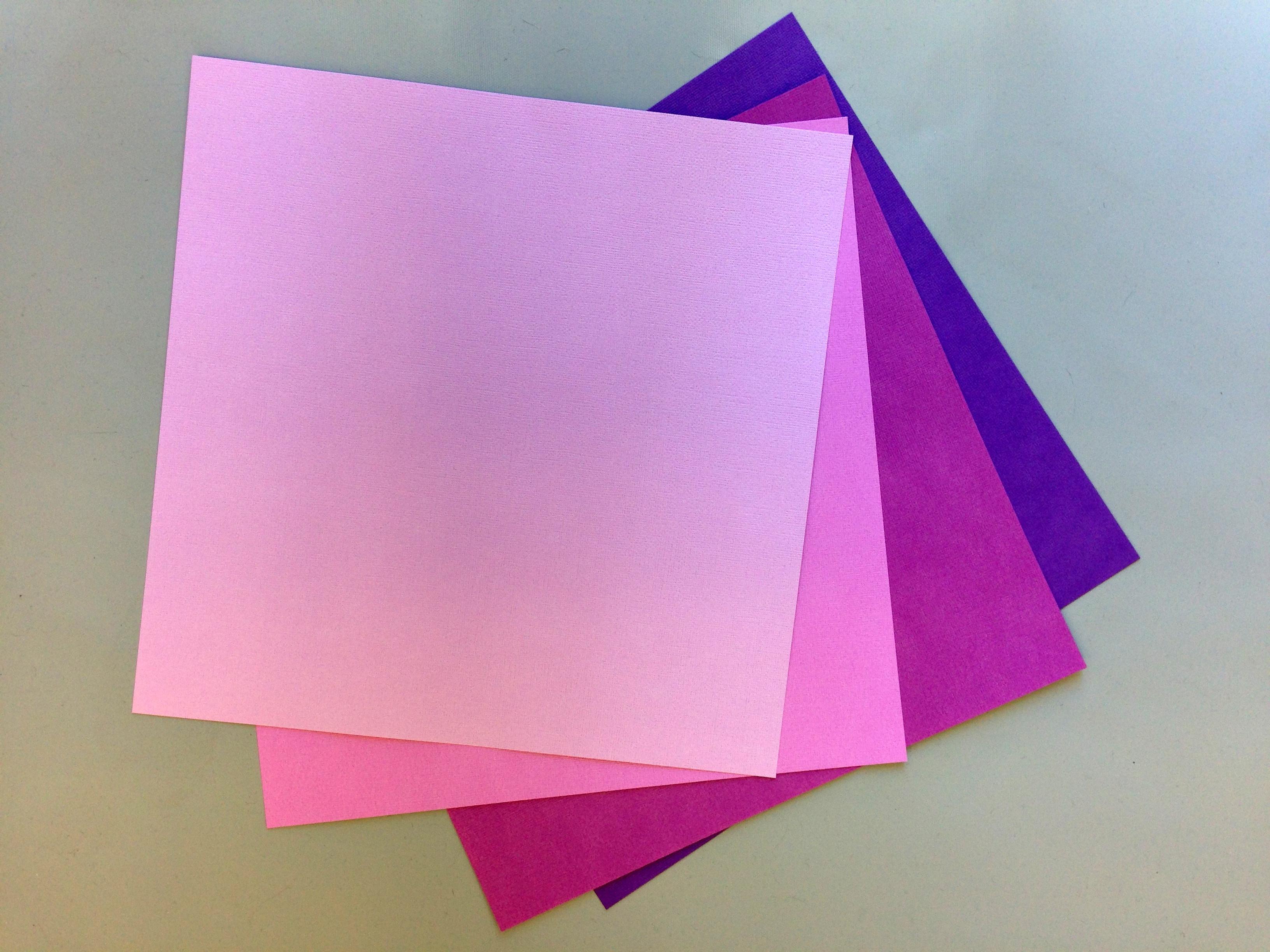 Purple Paper Flower Kit