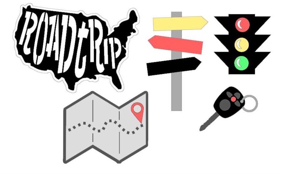 Road Trip Cutouts CC