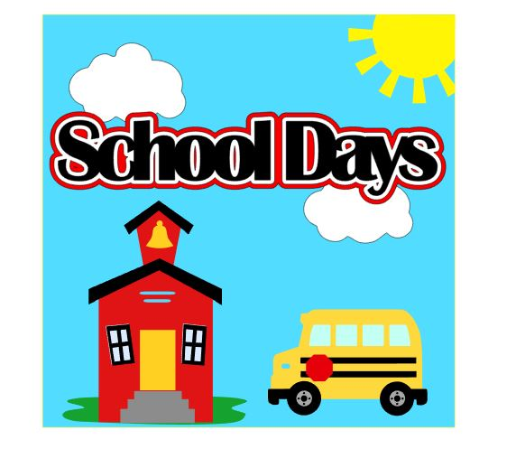 School Days Cover Page Add on Single 12 x 12 kit for School Days Album Set