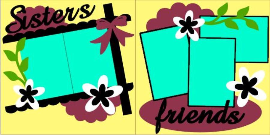 Sisters Friends Flowers