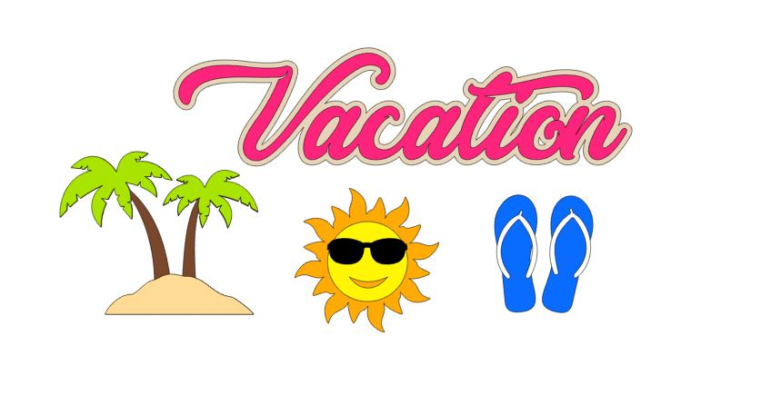 Vacation Sun Cut Outs