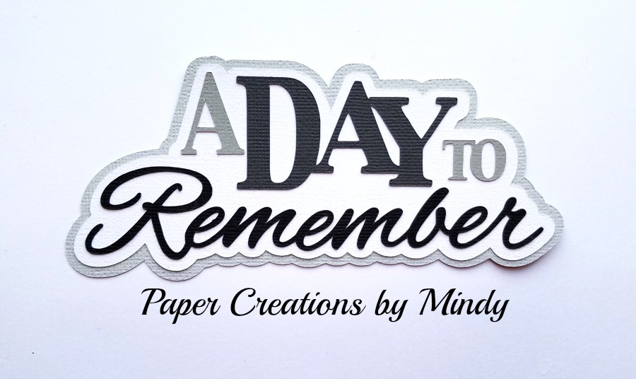 A Day To Remember Paper Piecing