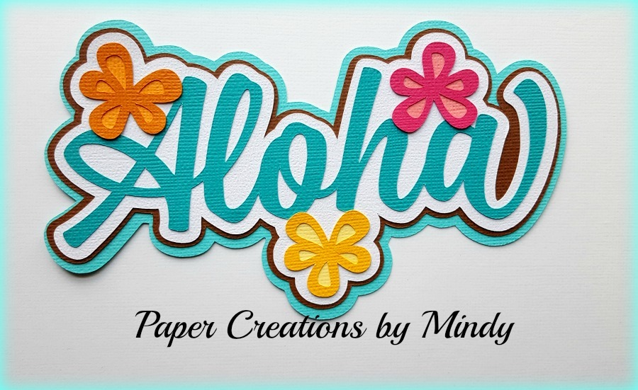 Aloha title Paper Piecing