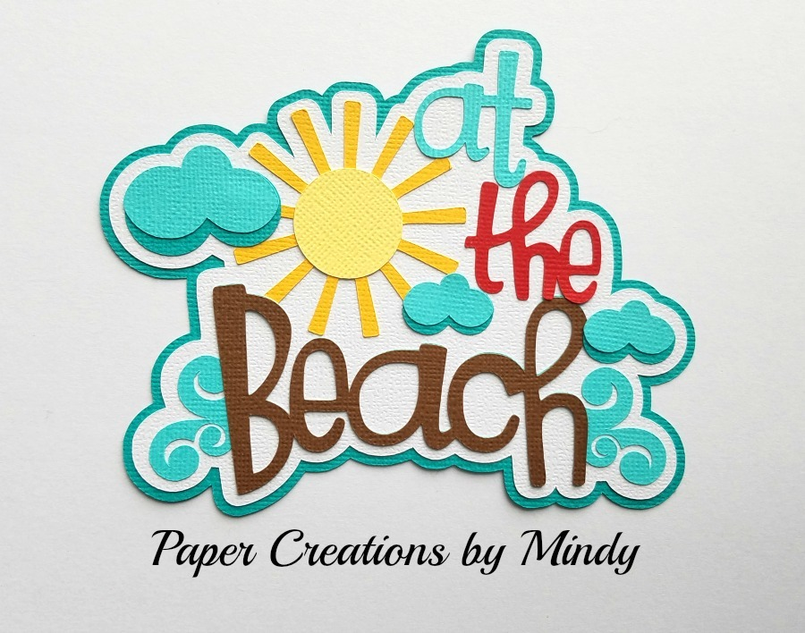 At The Beach Clouds Paper Piecing