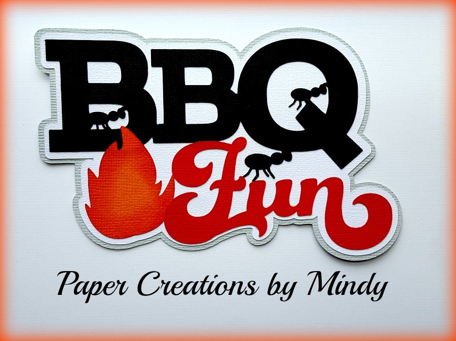 BBQ Fun Title Paper Piecing