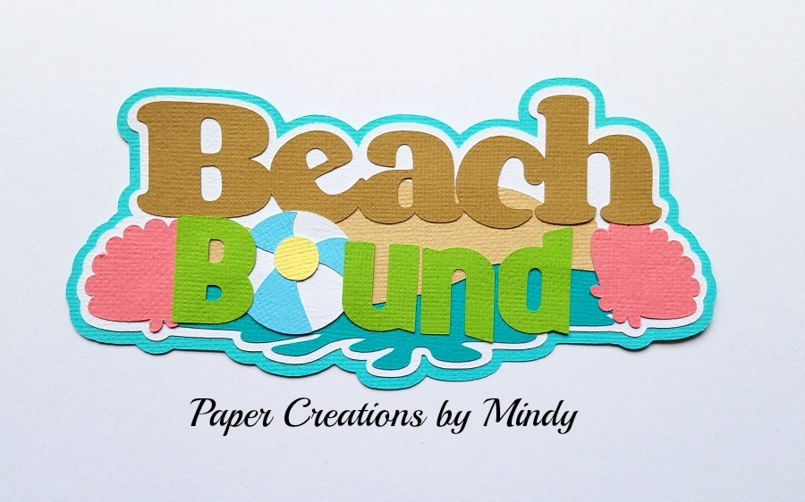 Beach Bound TBD Title Paper Piecing