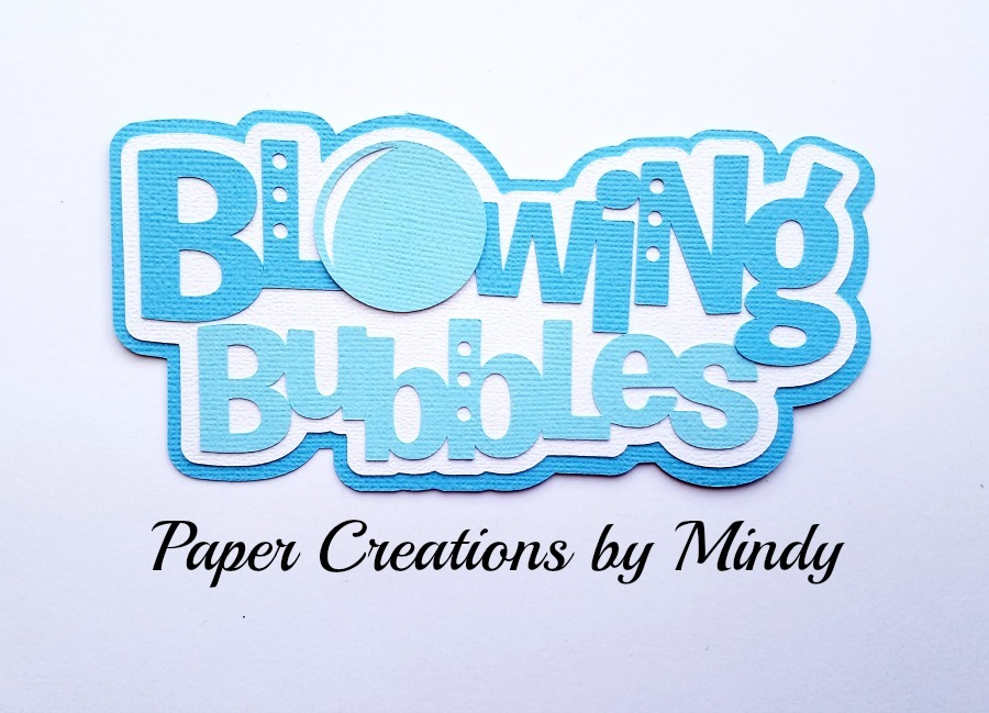 Blowing Bubbles Title MKC Paper Piecing