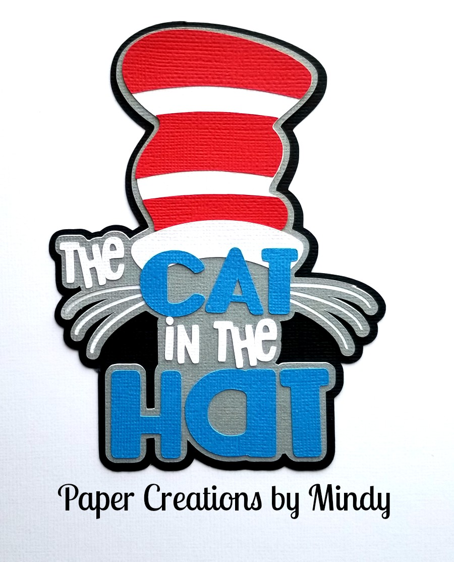 Cat In The Hat Title Paper Piecing