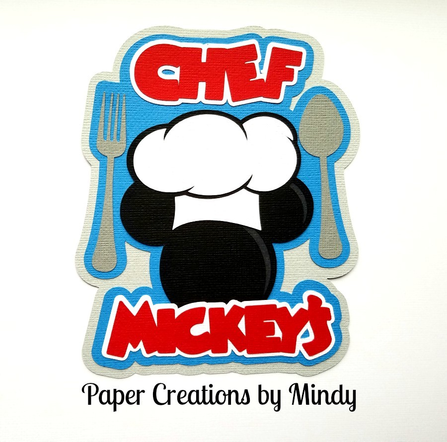 Chef Mickey Paper Piecing