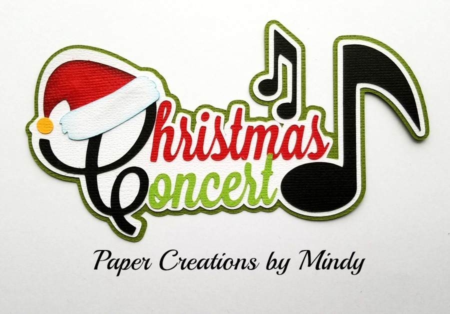 Christmas Concert Title Paper Piecing