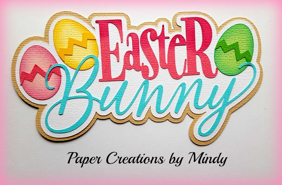 Easter Bunny Title Paper Piecing